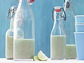 Avocado smoothie with yoghurt and wasabi
