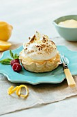 A lemon meringue tartlet