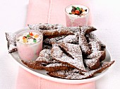 Cannoli Scomposti (Italian fried pastries with ricotta cream)