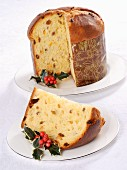 Sliced panettone (Italian Christmas cake)
