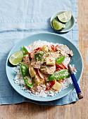Thai-Curry mit Schweinefleisch und Ananas