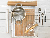 Kitchen utensils for baking spice cookies