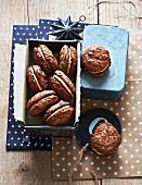 Gefüllte Schokoladen-Cookies zu Weihnachten