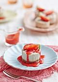 Mini-Erdbeer-Käsekuchen