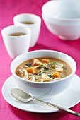 Thai Pumpkin, Chicken and Coconut Soup