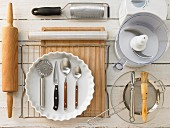Kitchen utensils for baking an apple cake