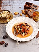 Dried fruit compote with almonds and honey (North Africa)