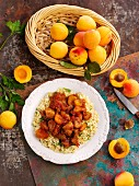 Pork with apricots and couscous (North Africa)