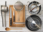 Kitchen utensils for making a game dish