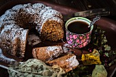 Amaretto 'Guglhupf' cake and coffee