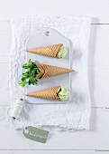 Woodruff ice cream in cones