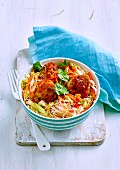 Teriyaki Noodles and Meatballs