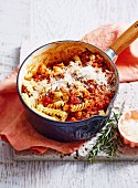 Weeknight Budge Dinners - Fusilli and Sausage Ragout