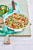 Silverbeet Gnocchi with Lemon and Pea Pesto