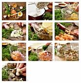 Wildlachstatar mit Linsen, Wachteleiern und Honig-Senfsauce zubereiten