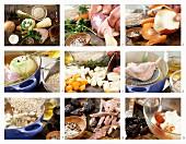 Gerstensuppe mit Ente, Backpflaumen und Wurzelgemüse zubereiten