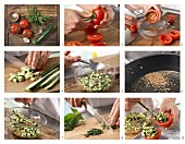 How to prepare stuffed tomatoes with courgettes and mint