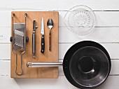 Kitchen utensils for raw food preparation