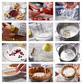 Beeren-Charlotte mit Joghurt-Quarkcreme zubereiten