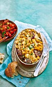 Barbecued Corn and Sausage Bakes
