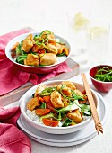 Gingered Fish and Vegetable Stir-Fry