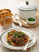 Savoury Mince on Toast