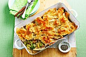 Broccoli, Bacon and Mushroom Pie