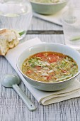Lettuce, Pancetta and Bean Soup