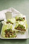 Pork and Lemongrass Lettuce Cups