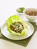 Stir-fried Pork in Lettuce Cups