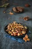 Hazelnuts on a plate