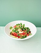Prawn and grapefruit salad with watercress