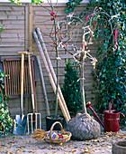 Gartengeräte zum Gehölzpflanzung