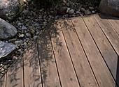 Konstruktion der Holztreppe