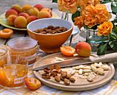 Prunus armeniaca / Aprikosen und Aprikosenmarmelade