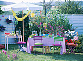 Dekoration für Gartenparty