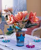 Amaryllis im blauen Glas: 2/2
