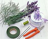 Lavendel / Meerlavendelsträuße als Tischdeko: 1/5