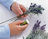 Lavendel / Meerlavendelsträuße als Tischdeko: 3/5
