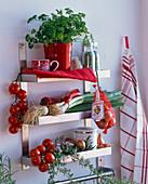 Küchenregal mit Petroselinum (Petersilie)
