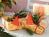 Weihnachts - Geschenke im Karton