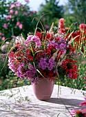 Strauß aus Phlox (Flammenblume), Monarda (Indianernessel)