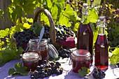Vitis vinifera (grape), grape juice and grape jelly