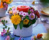 Kranz aus Phlox (Flammenblume), Heliopsis (Sonnenauge), Coreopsis