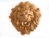 Dekoelement aus Terracotta : Löwe als Freisteller