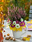 Kranz aus Chrysanthemum (Herbstchrysanthemen)