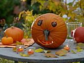Halloween - Kürbisse basteln mit Kindern
