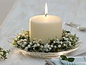weiße Kerze mit