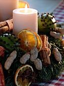 Duft - Adventskranz aus Abies procera (Nobilistanne), Buxus (Buchs), Pinus