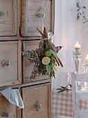 Duft - Stern aus Zweigen, geschmückt mit Zitrone und Limette (Citrus)